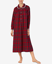 Lanz of Salzburg Printed Cotton Flannel Nightgown
