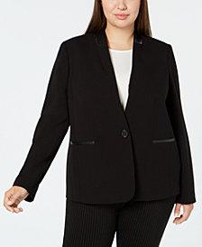 Calvin Klein Plus Size One-Button Blazer