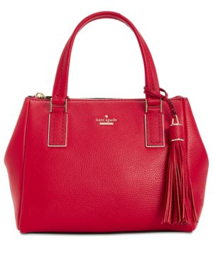 Kingston Drive - Small Alena Leather Satchel - Red in Heirloom Red