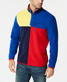 Club Room Men's Colorblocked Fleece Pullover, Created for Macy's