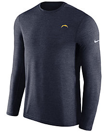 Nike Men's Los Angeles Chargers Coaches Long Sleeve Top