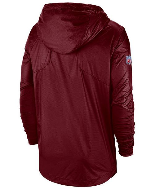Nike Men s Washington Redskins Lightweight Alpha Fly Rush Jacket ... 6ffd21450