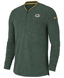 Nike Men's Green Bay Packers Coaches Quarter-Zip Pullover