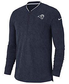 Nike Men's Los Angeles Rams Coaches Qaurter-Zip Pullover