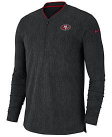 Nike Men's San Francisco 49ers Coaches Quarter-Zip Pullover