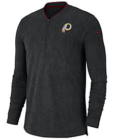 Nike Men's Washington Redskins Coaches Quarter-Zip Pullover
