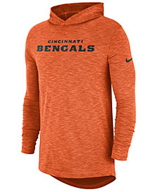 Nike Men's Cincinnati Bengals Dri-Fit Cotton Slub On-Field Hooded T-Shirt