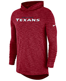Nike Men's Houston Texans Dri-Fit Cotton Slub On-Field Hooded T-Shirt