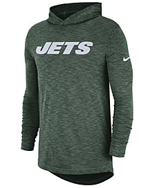 Nike Men's New York Jets Dri-Fit Cotton Slub On-Field Hooded T-Shirt