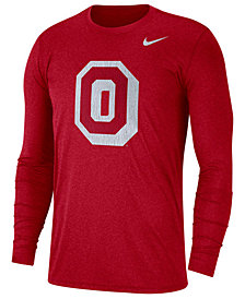 Nike Men's Ohio State Buckeyes Triblend Vault Logo Long Sleeve T-Shirt