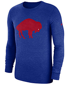 Nike Men's Buffalo Bills Historic Crackle Long Sleeve Tri-Blend T-Shirt
