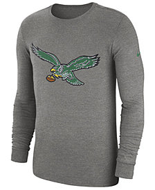Nike Men's Philadelphia Eagles Historic Crackle Long Sleeve Tri-Blend T-Shirt