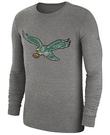 Nike Men's Philadelphia Eagles Historic Crackle Long Sleeve Tri-Blend T-Shirt