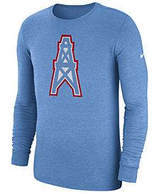 Nike Men's Tennessee Titans Historic Crackle Long Sleeve Tri-Blend T-Shirt