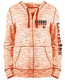 5th & Ocean Women's Cleveland Browns Space Dye Full-Zip Hoodie