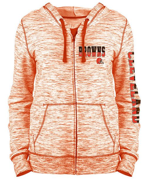 quality design 05075 f68c7 5th & Ocean Women's Cleveland Browns Space Dye Full-Zip ...