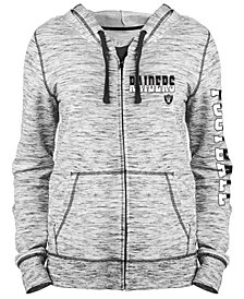 5th & Ocean Women's Oakland Raiders Space Dye Full-Zip Hoodie