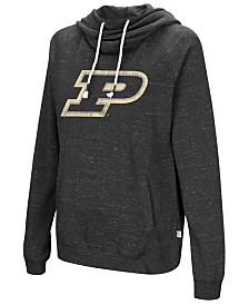 Colosseum Women's Purdue Boilermakers Speckled Fleece Hooded Sweatshirt