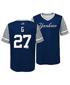 Majestic Giancarlo Stanton New York Yankees Players Weekend Jersey, Big Boys (8-20)
