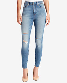 WILLIAM RAST Juniors' High-Rise Ripped Jeans