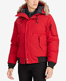 Polo Ralph Lauren Men's Faux-Fur Hooded Bomber Down Jacket