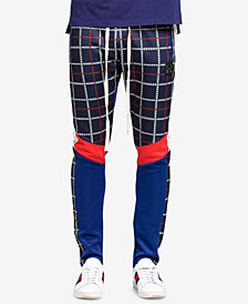 Hudson NYC Men's Glen Plaid Track Pants