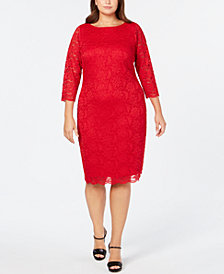 Calvin Klein Plus Size Lace Sheath Dress