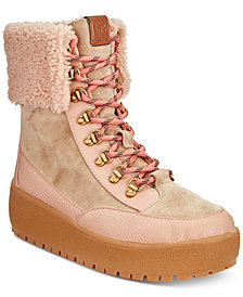 COACH Tyler Foldover Shearling Winter Boots