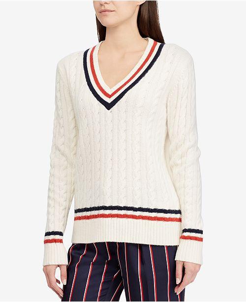 a44ef86de Lauren Ralph Lauren Cable-Knit Cricket Sweater   Reviews ...
