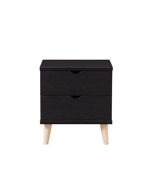 Furniture of America Massenburg II Modern 2-Drawer Nightstand