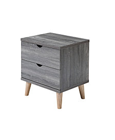 Modern Massenburg II 2 Drawer Nightstand