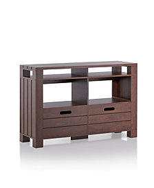 Crezo Plank Style Sofa Table
