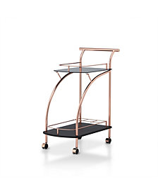 Lissy Lustrous Mirror Serving Cart