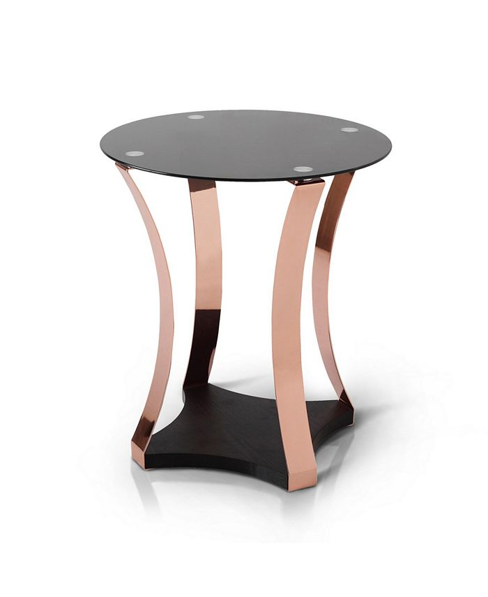 Furniture of America - Vida Round Two-Tone End Table
