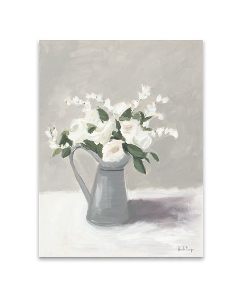 """Artissimo Designs Pewter Jug Iii Hand Embellished Canvas Art - 24"""" W x 32"""" H x 1.5"""" D"""