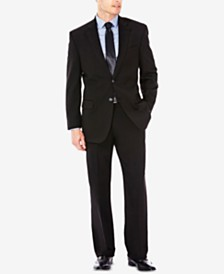 J.M. Haggar Men's Classic/Regular Fit Stretch Sharkskin Suit Separates