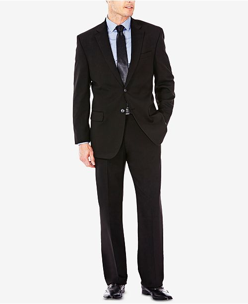 Haggar J.M. Men's Classic/Regular Fit Stretch Sharkskin Suit Separates