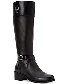 Giani Bernini Revaa Memory Foam Riding Boots, Created for Macy's