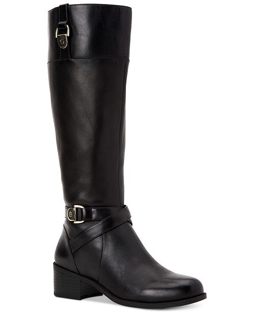 30c62b1e8aa Giani Bernini Revaa Memory Foam Wide-Calf Riding Boots   Reviews ...