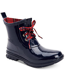 Charter Club Traynor Rain Booties, Created For Macy's