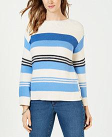 Charter Club Petite Multi-Stripe Sweater, Created for Macy's