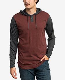 RVCA Men's Pick Up Colorblocked Knit Hooded Sweatshirt