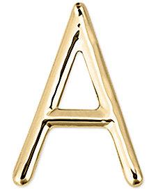 Sarah Chloe Polished Initial Single Stud Earring in 14k Gold
