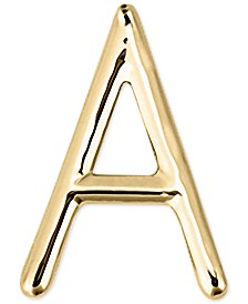 Sarah Chloe Polished Initial Single Stud Earring in 14k Gold