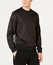 GUESS Men's Textured Logo Sweatshirt