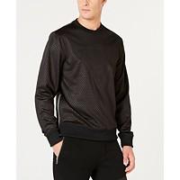 Deals on GUESS Mens Textured Logo Sweatshirt