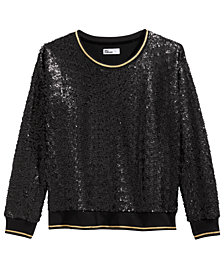 Epic Threads Big Girls Sequin Sweatshirt, Created For Macy's