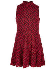 Epic Threads Big Girls Mock-Neck Embroidered Skater Dress, Created for Macy's