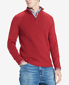 Tommy Hilfiger Men's Waffle Knit Quarter-Zip Sweater, Created for Macy's