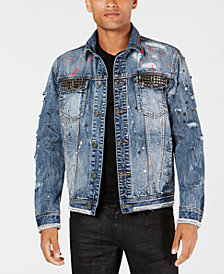 I.N.C. Men's Rip & Repair Trucker Jacket, Created for Macy's
